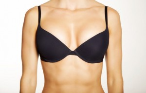 Black Bra Worn by a Woman